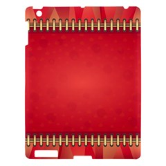 Background Red Abstract Apple Ipad 3/4 Hardshell Case