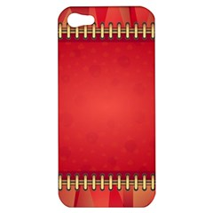 Background Red Abstract Apple Iphone 5 Hardshell Case