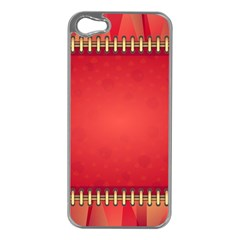 Background Red Abstract Apple Iphone 5 Case (silver)