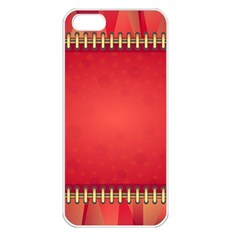 Background Red Abstract Apple Iphone 5 Seamless Case (white)