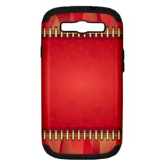 Background Red Abstract Samsung Galaxy S Iii Hardshell Case (pc+silicone)