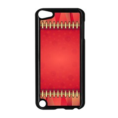 Background Red Abstract Apple Ipod Touch 5 Case (black)
