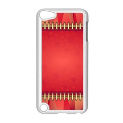 Background Red Abstract Apple Ipod Touch 5 Case (white)