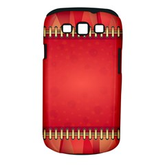 Background Red Abstract Samsung Galaxy S Iii Classic Hardshell Case (pc+silicone)