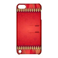 Background Red Abstract Apple Ipod Touch 5 Hardshell Case With Stand