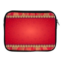 Background Red Abstract Apple Ipad 2/3/4 Zipper Cases