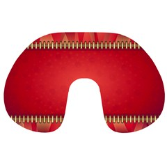 Background Red Abstract Travel Neck Pillows
