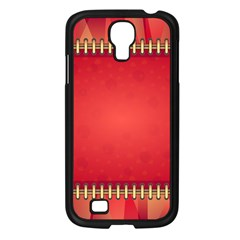 Background Red Abstract Samsung Galaxy S4 I9500/ I9505 Case (black)