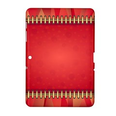 Background Red Abstract Samsung Galaxy Tab 2 (10 1 ) P5100 Hardshell Case