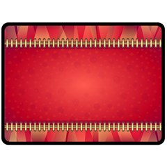 Background Red Abstract Double Sided Fleece Blanket (large)