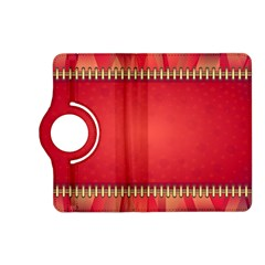 Background Red Abstract Kindle Fire Hd (2013) Flip 360 Case