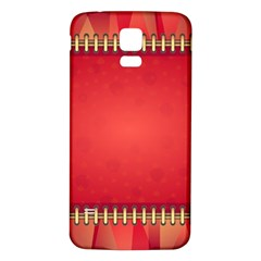 Background Red Abstract Samsung Galaxy S5 Back Case (white)