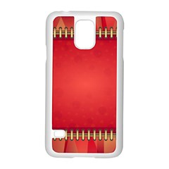 Background Red Abstract Samsung Galaxy S5 Case (white)