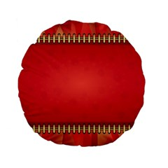 Background Red Abstract Standard 15  Premium Flano Round Cushions