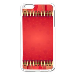Background Red Abstract Apple Iphone 6 Plus/6s Plus Enamel White Case