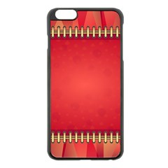 Background Red Abstract Apple Iphone 6 Plus/6s Plus Black Enamel Case