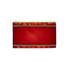 Background Red Abstract Cosmetic Bag (xs)