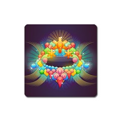 Badge Abstract Abstract Design Square Magnet