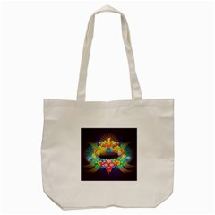 Badge Abstract Abstract Design Tote Bag (cream)