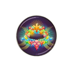 Badge Abstract Abstract Design Hat Clip Ball Marker (4 Pack)