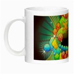 Badge Abstract Abstract Design Night Luminous Mugs