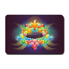 Badge Abstract Abstract Design Small Doormat