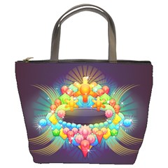 Badge Abstract Abstract Design Bucket Bags