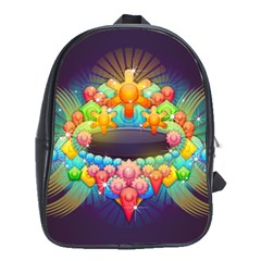 Badge Abstract Abstract Design School Bag (large)