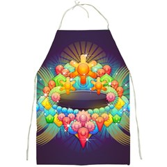 Badge Abstract Abstract Design Full Print Aprons