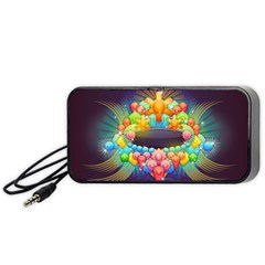 Badge Abstract Abstract Design Portable Speaker