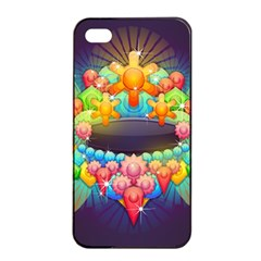 Badge Abstract Abstract Design Apple Iphone 4/4s Seamless Case (black)