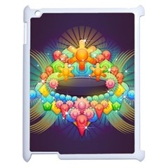 Badge Abstract Abstract Design Apple Ipad 2 Case (white)