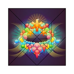 Badge Abstract Abstract Design Acrylic Tangram Puzzle (6  X 6 )