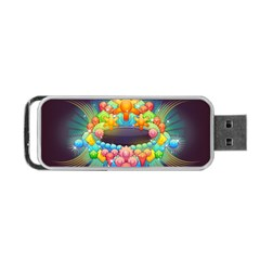 Badge Abstract Abstract Design Portable Usb Flash (two Sides)