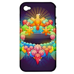 Badge Abstract Abstract Design Apple Iphone 4/4s Hardshell Case (pc+silicone)