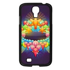 Badge Abstract Abstract Design Samsung Galaxy S4 I9500/ I9505 Case (black)