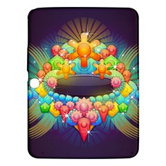 Badge Abstract Abstract Design Samsung Galaxy Tab 3 (10 1 ) P5200 Hardshell Case