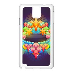 Badge Abstract Abstract Design Samsung Galaxy Note 3 N9005 Case (white)