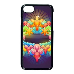 Badge Abstract Abstract Design Apple Iphone 7 Seamless Case (black)