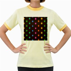 Lanterns Background Lamps Light Women s Fitted Ringer T Shirts