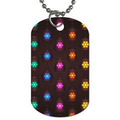Lanterns Background Lamps Light Dog Tag (one Side)