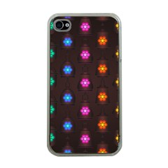 Lanterns Background Lamps Light Apple Iphone 4 Case (clear)