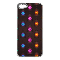 Lanterns Background Lamps Light Apple Iphone 5 Case (silver)