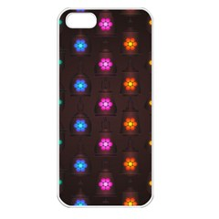 Lanterns Background Lamps Light Apple Iphone 5 Seamless Case (white)