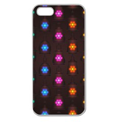 Lanterns Background Lamps Light Apple Seamless Iphone 5 Case (clear)