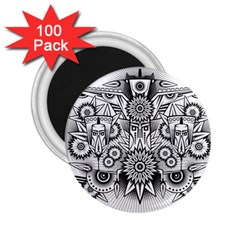 Forest Patrol Tribal Abstract 2 25  Magnets (100 Pack)
