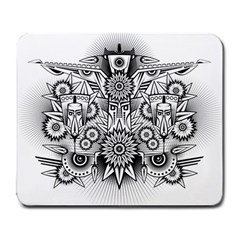 Forest Patrol Tribal Abstract Large Mousepads