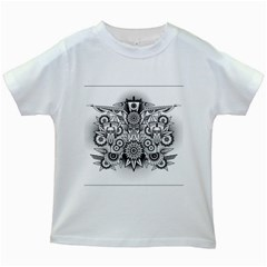 Forest Patrol Tribal Abstract Kids White T Shirts