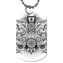 Forest Patrol Tribal Abstract Dog Tag (two Sides)
