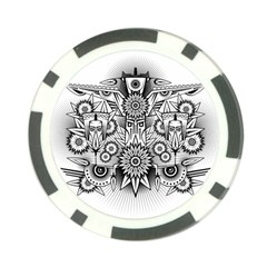 Forest Patrol Tribal Abstract Poker Chip Card Guard